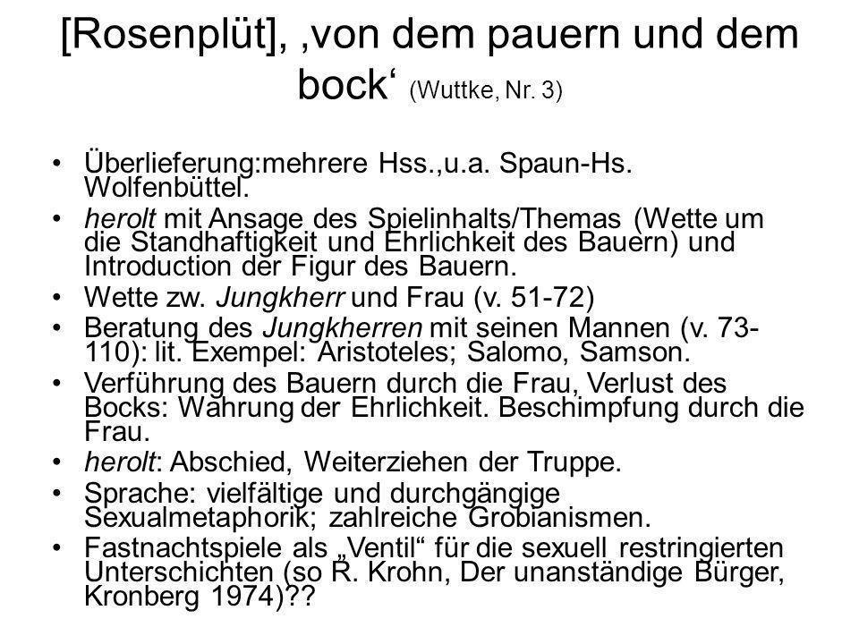 [Rosenplüt], 'von dem pauern und dem bock' (Wuttke, Nr. 3)